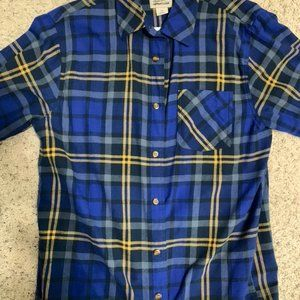 Other - Mens Large Blue and Yellow Flannel Sweater
